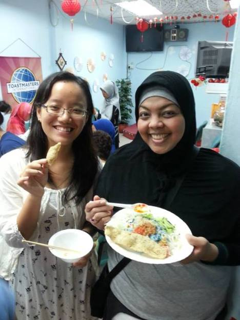 RC members with Steamed Dumpling and Nasi Kerabu